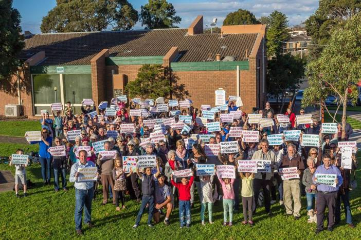 Highton Library protest