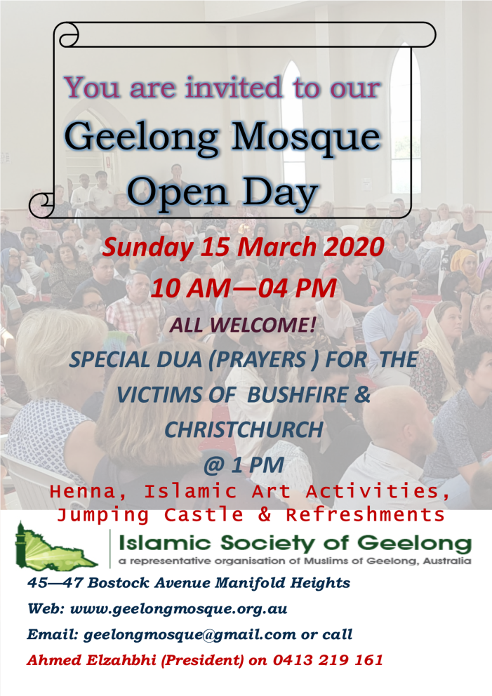 Geelong Mosque Open Day 2020 Flyer (2)